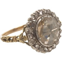 Olivia Collings Antique Jewelry Large Center Cluster Diamond Ring