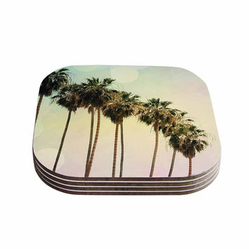 "Sylvia Coomes ""Palm Trees"" Coastal Photography Coasters (Set of 4)"