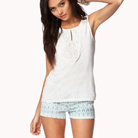 Essential Crocheted Keyhole Top