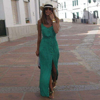 Summer Beach Style Women Maxi Dress = 1901175044