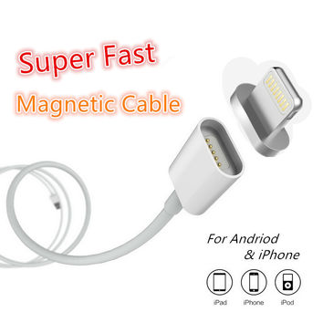 Magnetic Micro USB Charger Data Cable For Apple iPhone 5 5s 6 6s 7 Plus Android Samsung Charging Cable Mobile Phone Cord