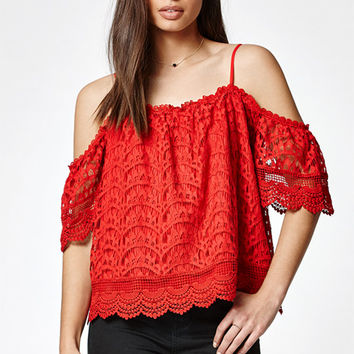 LA Hearts Lace Cold Shoulder Top at PacSun.com