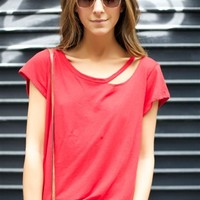 Palm Desert Crew Tee - Red