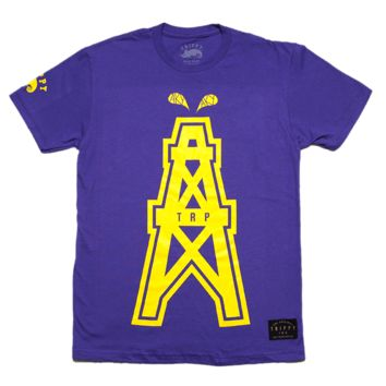 Men's Oil Rig T-Shirt (Yellow/Purple)