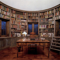 loftylovin ? Library Room In Silo of Barn Home ~