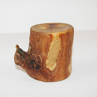 Pencil Pen Holder Rustic Wood Burned Cherry Wood Stocking Stuffer Holiday Gift Mens