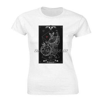 Tarot The Magician I Inverted Funny T Shirt women Cotton O-Neck T Shirt Group Clothing Shirt Classic Harajuku Streetwear