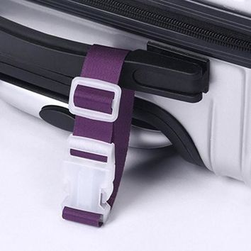 DCCKL72 New 1pc Portable Travel Hanging Belt Luggage Suitcase Bags Anti-lost Clip Hanger Buckle for Luggage