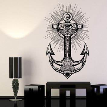 Wall Sticker Vinyl Decal Anchor Sea Ship Ocean Travel Bottom Sailor Unique Gift (ed465)