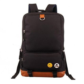 LMFON1O Day First Large Laptop Bag Stylish Canvas Backpack School Bag Daypack Bookbag