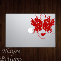 Lady Butterfly Mask/ Car/Computer vinyl decal