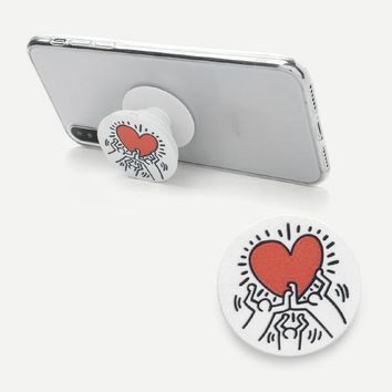 Heart Print Gasbag Phone Holder