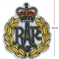 RAF Iron / Sew On Embroidered Patch Badge Embroidery Royal Airforce crown army | eBay