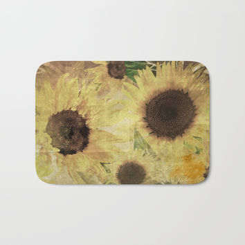 Wallflowers Bath Mat by Theresa Campbell D'August Art