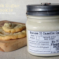 candle scent No.33 The Plantation House | Amish Sugar Cookie soy wax beeswax essential oils, organic, mason jar hand poured, small batch