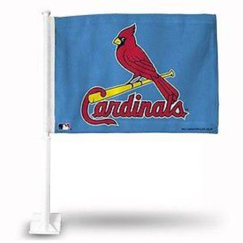 St Louis Cardinals 11X14 Window Mount 2-Sided Car Flag