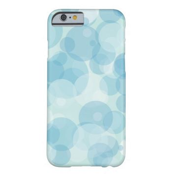 Blue Bubbles Barely There iPhone 6 Case