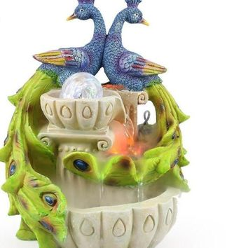 Craft Creative Auspicious Peacock Atomization Water Fountain