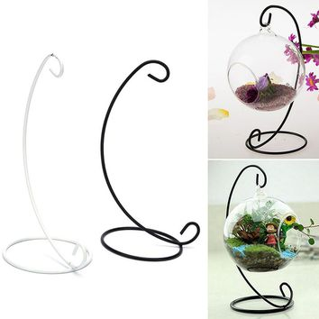 Arts & Crafts Arts Crafts 1pc Iron Wedding Candle Holder Candlestick Glass Ball Lantern Hanging Stand FAGOD RI
