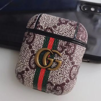 GUCCI AirPods Leather Protective Case Cover