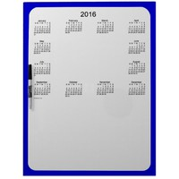 2016 Denim Blue Dry Erase Calendar by Janz Dry Erase Boards