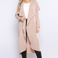 Brynn Suede Duster - Taupe