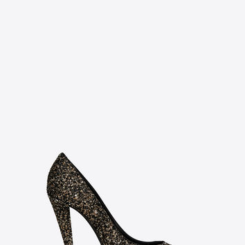 SAINT LAURENT ‎ERA PUMP IN GLITTER ‎ | YSL.COM