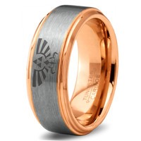 Legend of Zelda Ring Mens Fanatic Geek Sci Fi Jewelry Boys Girls Womens Legend of Zelda Ring Fathers Day Gift Tungsten Carbide 197