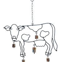 Cow Wind Chime Cow Shaped with Attractive Design