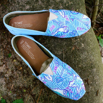 Custom Sorority Lilly Pulitzer Inspired Toms by ElizabethRoseShoes