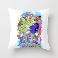 Disney Pixar Play Parade - Finding Nemo Unit Throw Pillow by Joey Noble