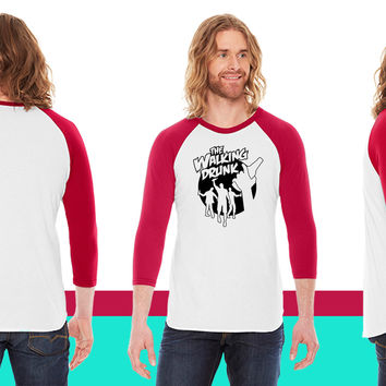 The walking drunk American Apparel Unisex 3/4 Sleeve T-Shirt