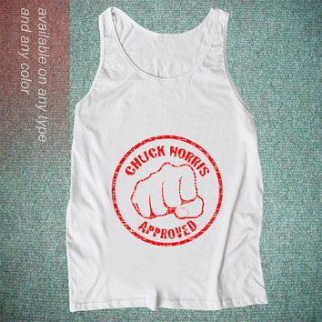 Custom chuck norris approved Casual Wear Sporty Cool Tank top Funny Tank top Cute Direct to garment
