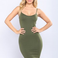 Love In The Dark Shapewear Dress - Olive