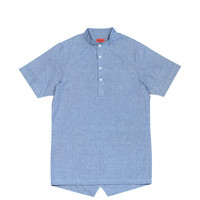 Hensworth Fishtail Top - Chambray Blue (sold out)