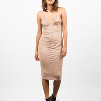 Suede Slip Dress