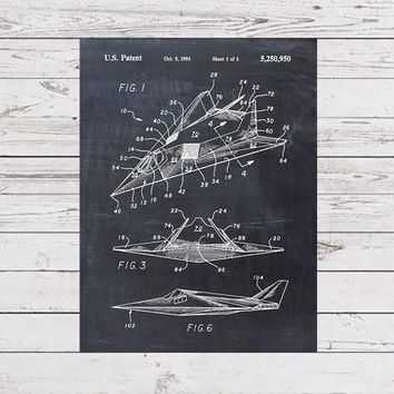 Patent Print of an F-117 Stealth Airplane - Patent Art Print - Patent Poster