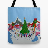 maybe Christmas doesn't come from a store, maybe, perhaps it's a little bit more Tote Bag by Studiomarshallarts