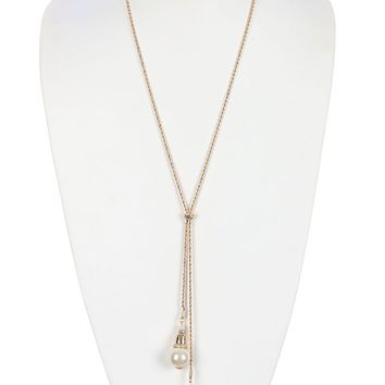Cream Flapper Inspired Double Pearl Necklace
