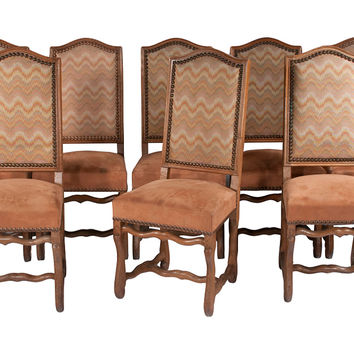 French Country  Dining Chairs, S/8