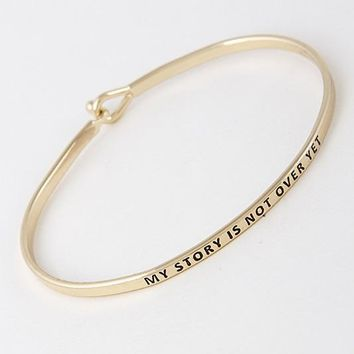 Stamped My Story Is Not Over Yet Bracelet