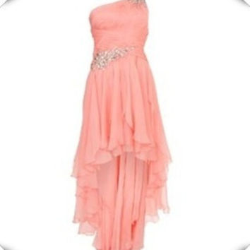 Elegant Sweetheart Dress One Shoulder Bridesmaid Holiday Formal Gown WD0169 = 1956891204