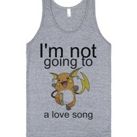 Not going to Raichu a love song-Unisex Athletic Grey Tank