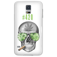 #420 Weed Samsung Galaxy S5 White Cellphone Case