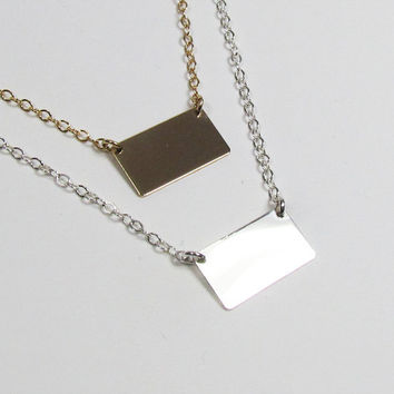 New Metal Name Plate Small Rectangle / Square by gemsinvogue
