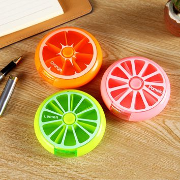 Weekly 7 Compartments Fruit Pill Box