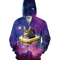 PBJ Space Kitty Zip-Up Hoodie *Ready to Ship*