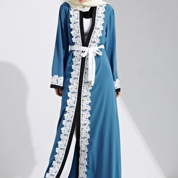 Long Open Abaya Lace Gowns Clothing