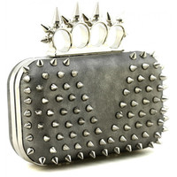 Spiked Knuckle Ring Duster Clutch | Avant-Garde Boutique