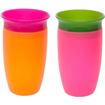 Walmart: Munchkin Miracle 360 10oz Sippy Cup, BPA-Free, 2-Pack, Pink/Orange